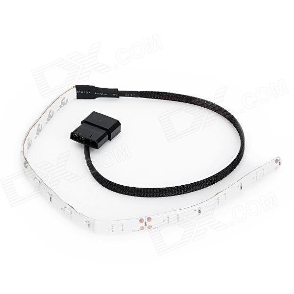 DIY Decorative Blue LED Light Strip w/ PC 4-Pin Connector - Black + White