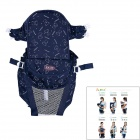 6-in-1 Comfortable Cotton Baby Carrier Sling - Deep Blue + White