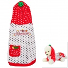 E1307C Cute Strawberry Style Cotton Pet Cloth for Dog - White + Red (XL)