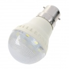 GePai B22 2W 189lm 6700K 9-SMD 5050 LED White Light Bulb - White + Silver (AC 170~240V)