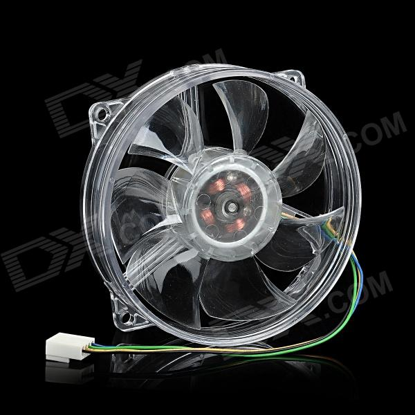 8025 AMD Intel CPU Heatsink Cooling Fan w/ Blue Light - Transparent (12V) free shipping emacro sf6023rh12 52a dc 12v 170ma 3 wire 3 pin connector 100mm 60x60x25mm server blower cooling fan