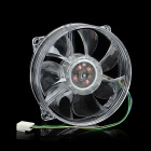 8025 AMD Intel CPU Heatsink Cooling Fan w/ Blue Light - Transparent (12V)