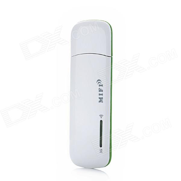 668F Portable USB 2.0 3G Wi-Fi Wireless Router - White + Green