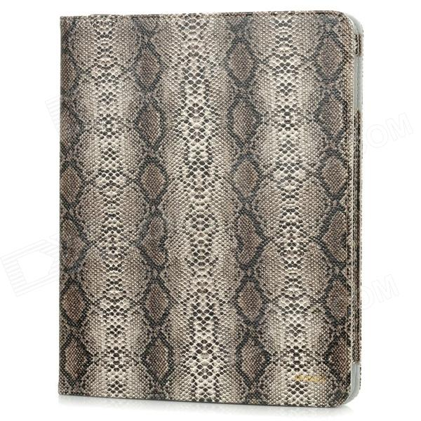 Cool Snake Pattern Protective PU Leather Case Cover for Ipad 4 / The New Ipad - Black Gray one piece 1x brand new high quality silicon protective skin case cover for xbox 360 remote controller blue green mix color