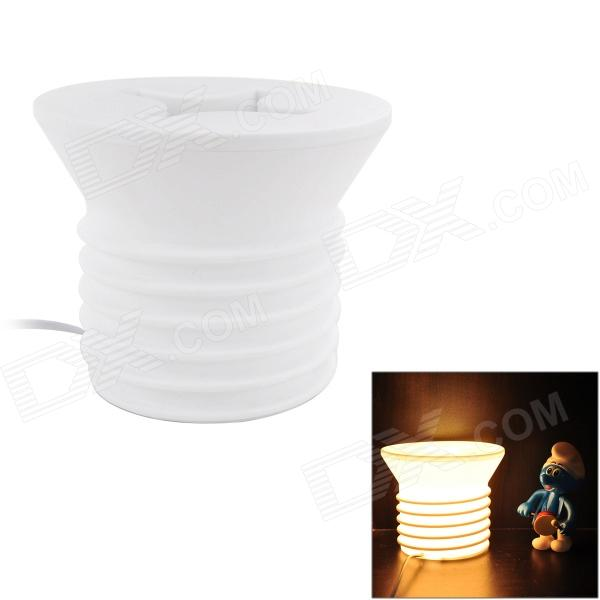 YSDX-742 Screw Style E14 25W 198lm 2700~3000K 1-LED Yellow Light Table Decoration Lamp - White