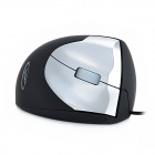 Restman USB 2.0 Ergonomic Optical 1600DPI Vertical Mouse - Black + Silver