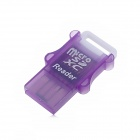 Portable USB 2.0 Micro SD TF Card Reader - Purple