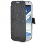 NEWTONS I7100 Diamond Pattern PU Leather Case for Samsung Galaxy Note II N7100 - Black