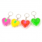 Heart Shaped LED Keychain - Red + Purple + Yellow + Green (3 x LR41 / 4 PCS)