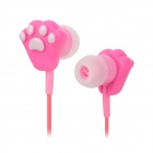 Cute Cat's Claw Style Fashion In-Ear Earphones - Pink (3.5mm Plug / 115cm)
