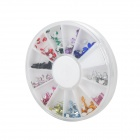 DIY 12-in-1 Nail Art Cell Phone Decoration Acrylic Rhinestones Set - Multicolored
