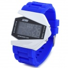 SKMEI 0817 Silicone Band Colorful Backlight LED Digital Wrist Watch - Black + Blue + White