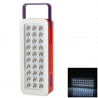 RL-5330 Rechargeable 50lm 6000~6500K 30-LED White Light Emergency Lamp - Red + White + Purple