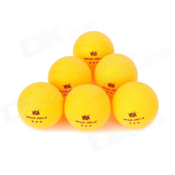 Winmax WMTB306 Sport 40mm Table Tennis Balls - Yellow (6 PCS)