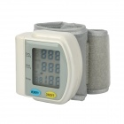 "WB-811 1.75"" LCD Wrist Blood Pressure Pulse Meter - White + Grey (2 x AA)"