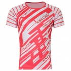 Release Moisture Wicking Quick Drying Polyester T-Shirt - Red + White (Size XXXL)