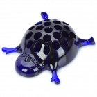 WL031 Cute Plastic Big Stomach Tortoise Pen Holder - Deep Blue