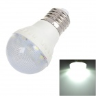 GePai E27 2W 90lm 6700K 9-SMD 5050 LED White Light Bulb - White + Silver (AC 170~240V)