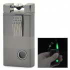 Crystal Green Flame Windproof Butane Jet Lighter - Gray Black