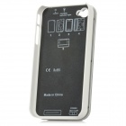 Rechargeable Bluetooth V2.0 Wireless 90 Degree Slide-out 50-Key Keyboard for Iphone 4 / 4S - White