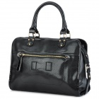 JUST STAR 170596-01 Pearl Gourami Pattern Fashion Women's PU Leather Handbag / Shoulder Bag - Black