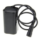 8.4V 4400mAh Rechargeable 18650 Li-ion Battery Pack for Bicycle Lamp - Black