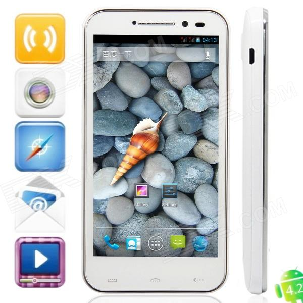 "iSA A19Q Quad Core Android 4.2.1 Phone w / 4,7 ""kapazitiven Bildschirm, Wi-Fi, GPS und Dual-SIM - White"