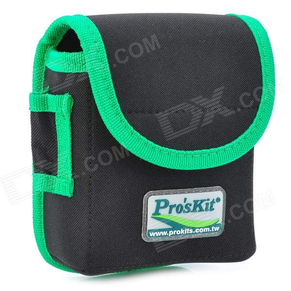 Pro'skit ST-5204 Repairing Tool Kit Storage Waist Bag - Green + Black  td tool bag leather repairing tools packaging maintenance kit household storage bag carry portable
