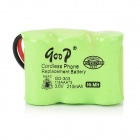 qoop GD-303 3.6V 210mAh Rechargeable Cordless Phone Ni-MH 1/3AAA Battery - Green