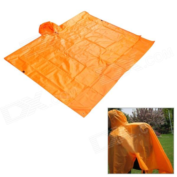 Aotu ao289 3-in-1 Multifunction Outdoor Camping Waterproof Raincoat Tent Pad - Orange sd 303 5mw 650nm red laser pointer gypsophila flashlight black 1 x 18650