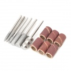 Nail Art Polish Machine Grinding Needle Bare-Headed Sand Ring Set - Silver