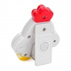 "Cute Chicken Shape 1.0"" LCD Screen Display Electronic Timer w/ Magnet - White + Red (1 x LR44)"