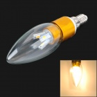 ZDM E14 3W 200lm 3300K 6-SMD 5630 LED Warm White Light Bulb - Golden + White + Silver (220V)