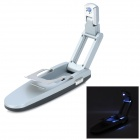 Automatic Clip-on Foldable LED Book Light Lamp - Black + Silver (3 x AG13)