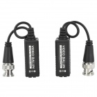 Video Balun CCTV Via CAT-5 Twisted Pair Transceivers - Black (Pair)
