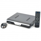 D1 4-CH BNC H.264 NTSC / PAL Network DVR System w/ RJ45 / USB / Mouse - Black