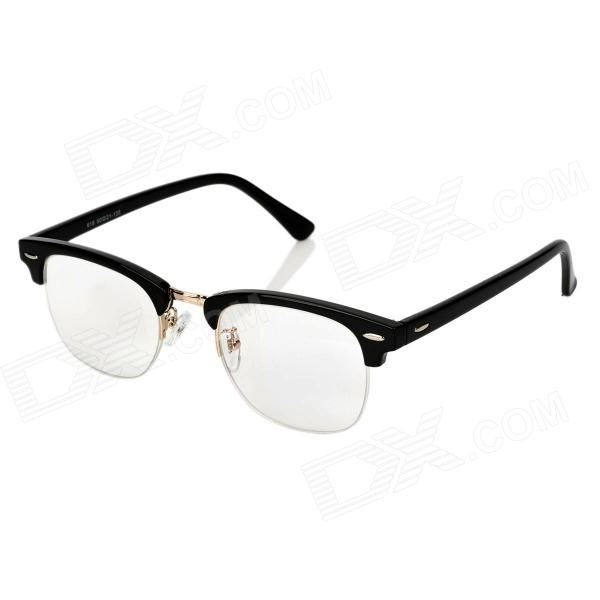 Old Man 100 619 +100 Degree PC Frame Resin Lens Presbyopia / Reading Glasses - Black old man 100 619 retro 250 degrees resin lens pc frame reading glasses black