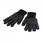 Mesh Fiber Three Finger Capacitive Screen Touching Hand Warmer Gloves - Black (Pair / Size M)