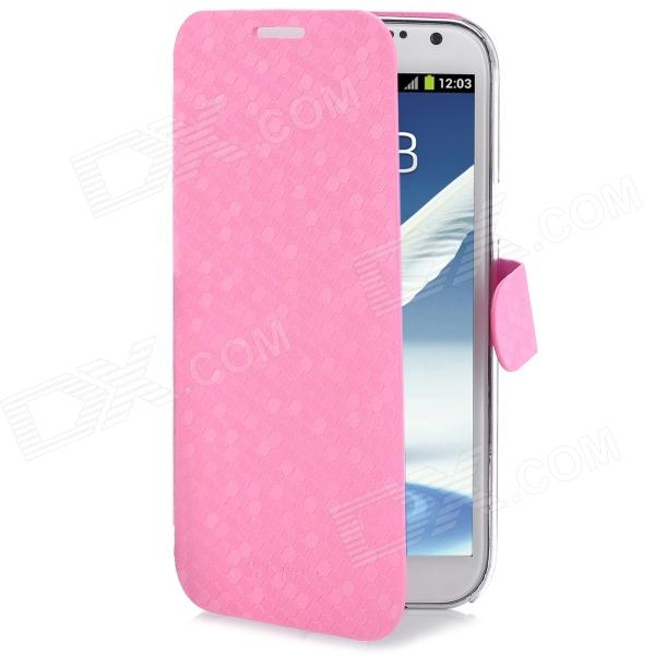 NEWTONS I7100 Diamond Pattern PU Leather Case for Samsung Galaxy Note II N7100 - Pink
