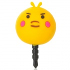 Cute Chicken Shape 3.5mm Earphone Jack Anti-Dust Kit for Iphone 4 / 4S / Ipad - Deep Yellow