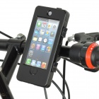 (VR) Bike 5 Sport Protective ABS + PU Case Waterproof Fixed Stand for iPhone 5 - Black