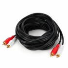 Q404A-5M 2-RCA Plug to Plug PC Audio Video Converter Cable - Black (500cm)