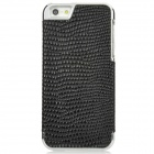 Protective PC Electroplated Snake Skin Back Case for Iphone 5 - Black