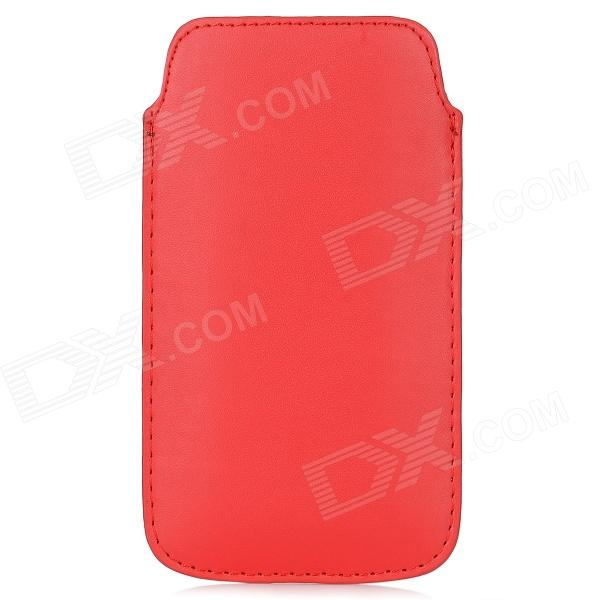 Protective PU Leather Sleeve Case for Samsung Galaxy S4 / i9500 - Red