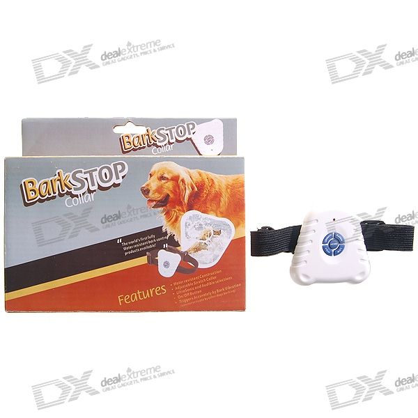 Waterproof Ultrasonic Non-Shock Bark Control Dog Collar (Stops Barking)