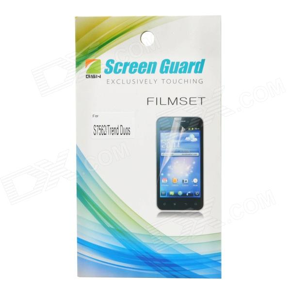 Protective Clear Screen Protector Film Guard for Samsung Galaxy Trend Duos S7562 - Transparent