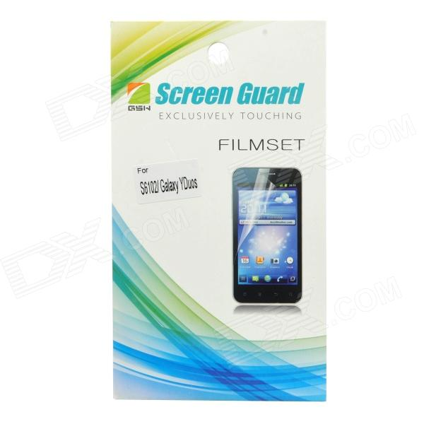 Protective Clear Screen Protector Film Guard for Samsung Galaxy Y Duos S6102 - Transparent