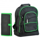 Pro'skit 9ST-307 Multi-Purpose Reparatur-Tool-Kit Lagerung Taille Schultern Bag - Black + Green