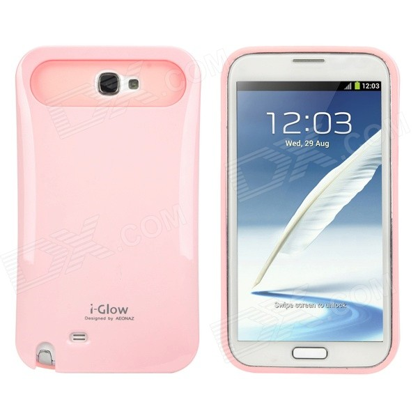 Glow-in-the-Dark Protective PC + Silicone Back Case for Samsung Galaxy Note 2 N7100 - Pink 2 in 1 detachable protective tpu pc back case cover for samsung galaxy note 4 black