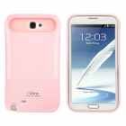 Glow-in-the-Dark Protective PC + Silicone Back Case for Samsung Galaxy Note 2 N7100 - Pink